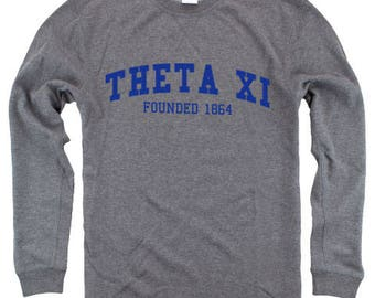 Theta Xi Founders Reversible Crew Sweatshirt - Royal Imprint