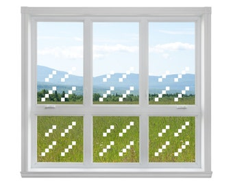 4ct Blocky Window Glass Pack (1 window) Vinyl Wall Decals - Pack of 4 decals ! & Minecraft wall decal | Etsy