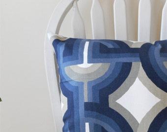 pillow covers cushion cover designer pillow modern geometric blue zipper 16 18 20 22