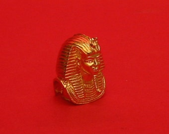 The Mask Of Tutankamen Thimble Gold Plated Collectors Thimble