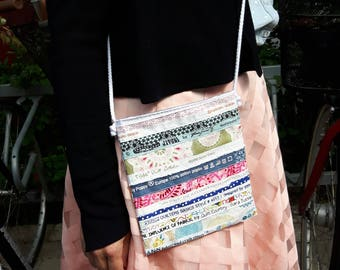 Small bag made of selvages