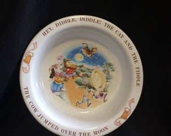 Avon 1984 Hey Diddle Diddle Collectible Bowl