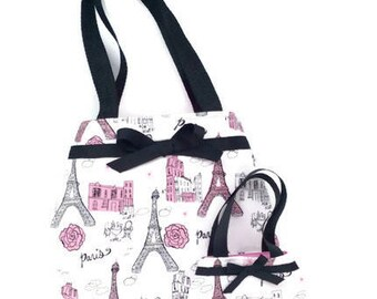 Eiffel Tower Purse, Paris, France Purses, Matching Purses for 18 Inch Dolls and Their Girls