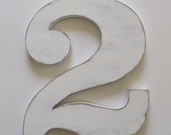 Wooden Numbers - Wood Number - 12 inch number - birthday photo prop