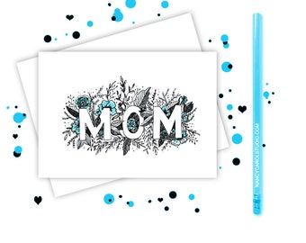Mother In Law gift card  - Mothers Day Card - Mother In Law  - Card for Mom In Law