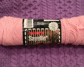 Natura Sayelle Pink Vintage Yarn // Acrylic Blend DISCONTINUED Worsted Weight Yarn / 4oz