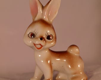 Vintage 1960's Ceramic Bunny Rabbit Made in Japan Party Favor, Souvenir FREE SHIP
