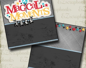 Magical Moments Banner NPM - Disney - 2 Premade Scrapbook Pages - EZ Layout 2966