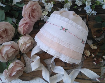 Well Dressed Wolf matching Bonnet to Peach Innocent Dress WDW. Custom Size. Made to Order.