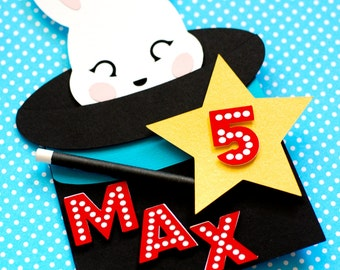 Magic Party Cake Topper - Personalized