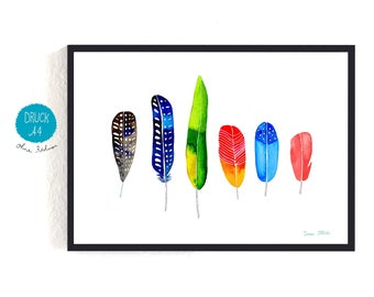 Art Print / small poster *feathers*