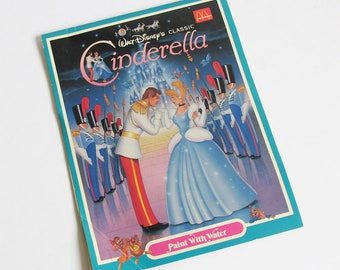 1987 McDonald's Walt Disney's Cinderella Coloring Book - Paint-with-Water Book, Happy Meal Toy, McDonald's Collectible