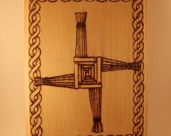 Brigid's Cross Woodburning