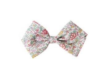 Liberty of London Floral Girl's Hair Bow | Newborn / Baby / Toddler / Child | Nylon Headband or Hair Clip