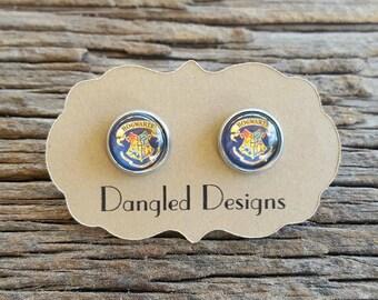 10mm Hogswart Stainless Steel Earrings
