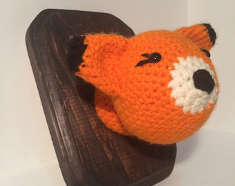 Amigurumi Crochet Taxidermy -  Red Fox