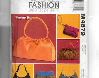 McCall's Soft Handbags Pattern 4679