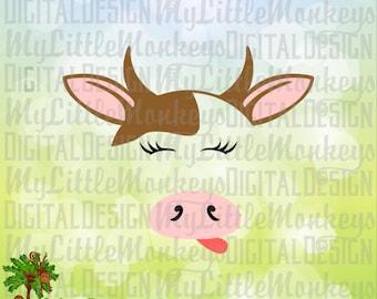 Cow SVG, Farm SVG, Farm Animals, Cow Face svg, Kids svg, Cow Shirt, Cow Decor, Commercial Use SVG, Clip Art, Cut File, svg, eps, dxf, png
