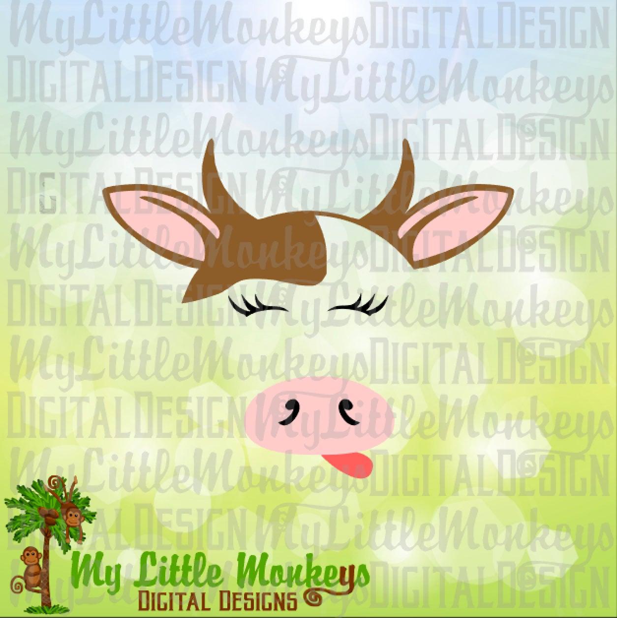 Cow SVG Farm SVG Farm Animals Cow Face svg Kids svg Cow