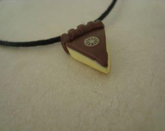 Pendant Necklace with a lemon pie