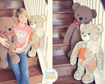 PATTERN - John the Canadian Teddy Bear Amigurumi Crochet PDF Pattern with Instant Download