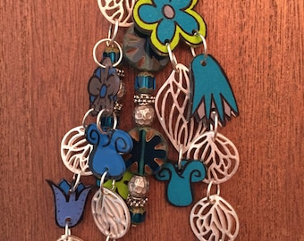 Think Spring shrink art necklace
