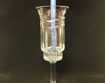 Lovely Lead Crystal Hurricane Candleholder