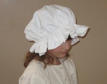 Ready to Ship Molly's Prairie Nightcap or Colonial  Mob cap/Mop cap