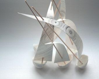 Stoneware English fine bone china walnut shell boat
