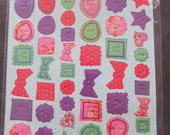 Board cardboard buttons for scrapbooking stickers