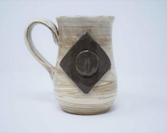 Handmade Ceramic Marbled Luna Mug 15 oz