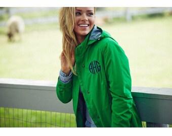 Monogrammed Jacket, Charles River Jacket, Monogram Jacket, Women's Jacket, Ladies Jacket, Heavy Coat, Charles River Coat, Gift for Her,