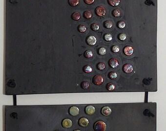 Metallic Dots - 3-piece wall hanging
