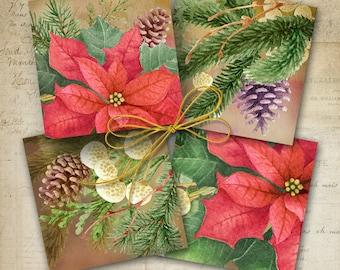 Printable artworks CHRISTMAS COASTERS holiday embellishment, home decoration, chrismas DIY gift, instant digital download ArtCult designs