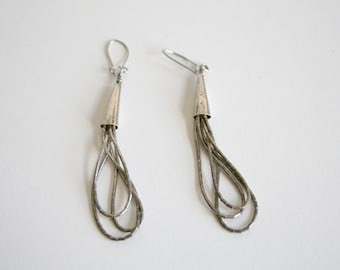 Liquid Sterling Dangle Earrings