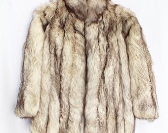 Vintage SAKS FIFTH AVENUE real fox fur coat