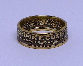 Sealed Chuck E Cheese  Coin token ring  size 4-12