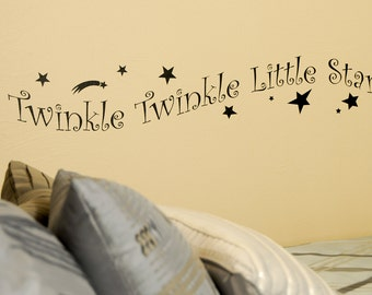 Twinkle Twinkle Little Star - Wall Decal