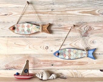 Wooden Fish Decoration   Birthday Gift   Bathroom Decor   Gift for fisherman   Father's Day Gift   Fish Wall Decor   Birthday gift