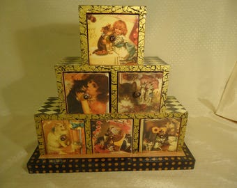 Cats, Kitties, Kittens Victorian Style Chest of Drawers