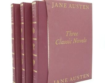 Three Classic Novels Collection: Pride and Prejudice, Sense and Sensibility, Emma by Jane Austen (Vintage, Folio, Classics)