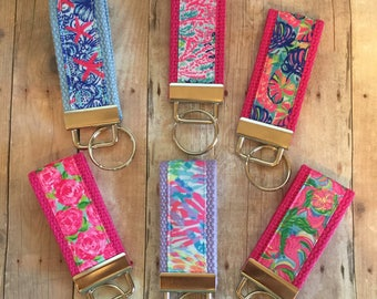 Mini Key Fobs, Lilly Pulitzer, Keychain, Sweet 16 Gift
