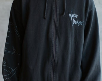 Vintage Obituary World Demise Release Show Zip-Up Hoodie.