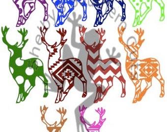 10 Pattern Deer SVG files