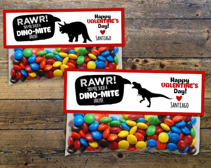 4 options included, candy toppers, party favor, Valentine's Day, Valentine's, dino, dino valentine, dinosaur valentine, class party,