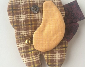 Dog fabric - original key rack key holder