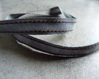 Large gray Ribbon with small brown sewing 1 x 1.4 m