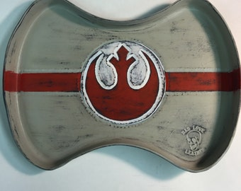 Custom One Off War Torn X Wing Rebel Alliance Leather Valet Tray