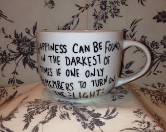 Harry Potter White Mug with Quote- hand painted, tea/ coffee mug