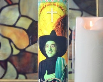 SALE TODAY ONLY Elphaba Wicked Witch Wizard of Oz Celebrity Prayer Candle - Wicked